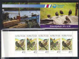 Faroe Islands 1998  Resident Birds Common Blackbird (Turdus Merula), Common Starling (, Mi 332-333 In MH 15, MNH - Faroe Islands