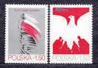 POLAND 1979 35 YEARS OF PRL Polish People's Republic NHM Communism Flag Eagle - Ongebruikt