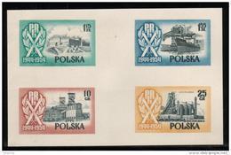 SLANIA SUMMER SALE 57 POLAND SLANIA 1954 10TH ANNIV 2ND REP FREIGHTER SOLDEK COLOUR PROOFS Ships Trains Steel Castles - Ongebruikt