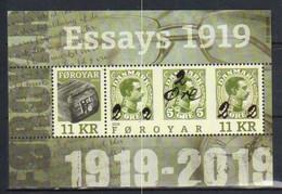 Faroe Islands  2019  Provisional Stamp Issue From 1919  Mi  Bloc 49 MNH(**) - Faroe Islands