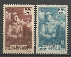 A LA GLOIRE DE L'INFANTERIE N° 386 Et 387 Gom D'origine  NEUF** LUXE  SANS CHARNIERE / MNH - Unused Stamps