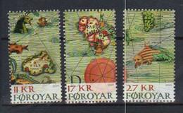 Faroe Islands  2019 Historic Maps, Carta Marina, Thule, Faroe, Sea Monsters  Mi  943-945 MNH(**) - Faroe Islands