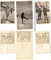N° 3 Foto Del 1928 E 31 COURMAYEUR - Campi Da Scii Davanti All'Hotel - Succursale Als----sior - Aosta