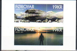 Faroe Islands  2019 Lakes, Leynavatn  And Eiðisvatn  Mi  948-949 MNH(**) - Faroe Islands