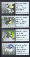 Faroe Islands  2018  International Stamp Exhibition MACAU 2018, Dogs  Mi Local Letter Mi 41-44 Automat Labels MNH(**) - Faroe Islands