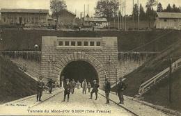 Les Longevilles Tunnels Du Mont D'Or Tête France édit Parreaux écrite En 1922 Animée Dont 2 Douaniers - Andere Gemeenten