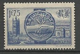 VISITE DES SOUVERAINS BRITANIQUES N° 402 Gom D'origine  NEUF** LUXE  SANS CHARNIERE / MNH - Ongebruikt