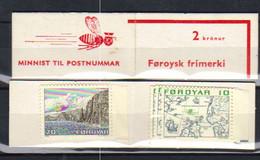 Faroe Islands  1975 Stamp Booklet With  6 × Mi.No.8 And 2 × Mi.No.11 MNH(**) - Faroe Islands
