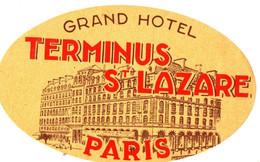 GRAND HOTEL TERMINUS ST LAZARE . PARIS - Etiquettes D'hotels