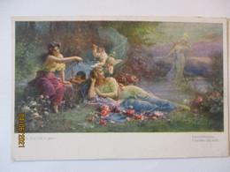 Frauen Und Engel, Abendzauber, Künstlerkarte Hans Zatzka (60783) - 1900-1949