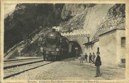 Vallorbe L'Express Paris-Milan N°6218 Sortant Du Tunnel Du Mont D'Or Douanier Français Armé éd 34 Marcel Deriaz - VD Vaud