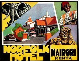 NORFOLK HOTEL . NAIROBI . KENYA . ELEPHANT . LYON - Etiquettes D'hotels