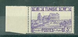 TUNISIE - N° 220** MNH  LUXE SCAN DU VERSO. Bord De Feuille. - Ongebruikt
