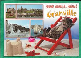 Granville (50) Tempête église Fleurs Goélette Chat Transat Château De Sable Coquillages Farniente Ballon 2scans - Granville
