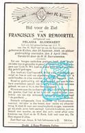 DP Franciscus Van Remoortel ° Kallo Beveren-Waas 1849 † 1941 X Pelagie Blommaert - Devotion Images