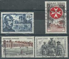 France N° 1052-1059-1062-1063  Obl. - Used Stamps