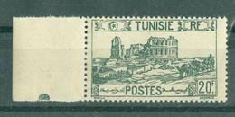 TUNISIE - N° 294** MNH  LUXE SCAN DU VERSO. Bord De Feuille. - Ongebruikt