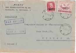 POLOGNE 1951 PLI AERIEN DE VARSOVIE - Brieven En Documenten