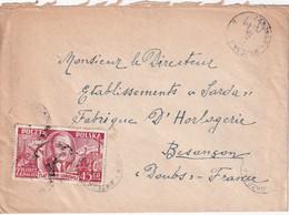 POLOGNE 1951 LETTRE DE ZABOROW - Brieven En Documenten