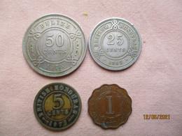 Belize / British Honduras 1, 5, 25 & 50 Cents 1965 - 73 - Belize