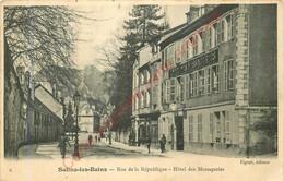 39.  SALINS LES BAINS .  Rue De La République .  Hôtel Des Messageries . - Altri Comuni