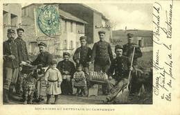 Chaux-Neuve (Doubs) Chien Brutus Et Douaniers Au Nettoyage Du Campement écrite De Combe-des-Cives En 1907 - Other Municipalities
