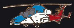 71338-Pin's -Avion.aviation.Militaire.Armée.Helicoptere..signé Aérospatiale Boussemart - Aerei
