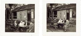 2 Photos Devant Une Buvette à Identifier (région De Charleroi, Trazegnies ? Courcelles ?) Bières Noël, Caulier, Gévé - Luoghi