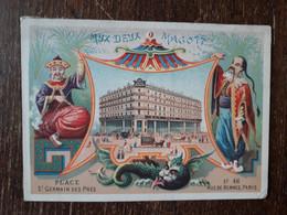 L36/144 CHROMO AUX DEUX MAGOTS . PARIS . PLACE ST GERMAIN DES PRES - Andere