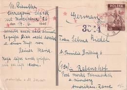 POLOGNE 1946 CARTE CENSUTREE DE STRZEGOM - Brieven En Documenten