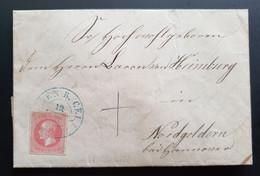 Hannover 1862, Brief Mi 14 Blauer Stempel Mit Inhalt Geprüft BPP - Hanover