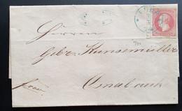 Hannover, Brief Mi 14 Randnummer LEER 3/7 Nach Osnabrück - Hanover