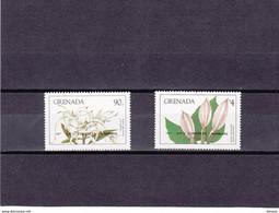 GRENADE 1984 FLEURS Surchargés UPU Yvert  1160-1161 NEUF** MNH - Grenada (1974-...)
