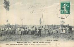 33 AERODROME CROIX D'HINS GROUPE DE RESINIERS VENANT DE BRULER PREMIERS AJONCS - Otros Municipios