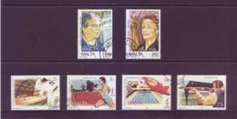 Malta 1996 - Donne Celebri E Giochi Olimpici Di Atlanta. 2 Serie Complete Con Annullo Leggero E Rotondo - Malta