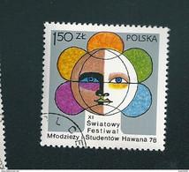 N° 2389 Festival De La Jeunesse à La Havane Timbre   Pologne Oblitéré/ Neuf  Polska 1978 - Gebruikt