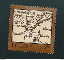 N° 2657 Carte De Pologne En 1526  Timbre   Pologne Oblitéré/ Neuf  Polska 1982 - Gebruikt