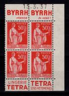 Publicite - YV 283 N** Luxe Double Paire Verticale Avec Pub Byrrh / Tetra Lingerie , Avec Date Du Carnet Au Nord - Advertising