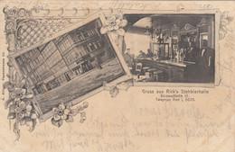 6082) GRUSS Aus RICK's Stehbierhalle - Kellner  Innen U. Aussen - TOP LITHO Hamburg DOVENFLETH 1902 !! - Altri