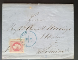 Hannover, Brief Mi 14 Randnummer PENTHEIM  Gelaufen RHEINE - Hanover