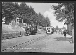 BELLEZZE D'ITALIA SILA COSENZA STAZIONE CAMIGLIATELLO VG. 1950 TRENO TRAM N° B731 - Cosenza