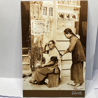 Barber, Street Corner Hairstyling Services In Hong Kong In The '30s, Hong Kong Postcard, Sing Tao Daily - Other