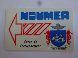 CARTE BANDE MAGNÉTIQUE CARTE DE STATIONNEMENT OUTRE-MER NOUMÉA NOUVELLE-CALÉDONIE - Parkeerkaarten