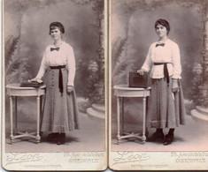 1V5 Ct  Lot De 2 CDV Même Jeune Femme 2 Façons De Porter La Robe Ph. Léon à Grenoble - Photographs