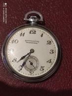Ancienne Montre A Gousset Chronographe En Acier Marque Sorrente - Watches: Bracket