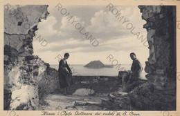 CARTOLINA  ALASSIO,SAVONA LIGURIA,RIIERA DEI FIORI,ISOLA GALLINARA DAI RUDERI DI S.CROCE,VACANZE,PORTO,VIAGGIATA 1934 - Savona