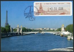 FRANCE (2010) - Carte Maximum Card ATM / LISA - Le Salon Du Timbre, Pont Alexandre III Et La Tour Eiffel, Bridge - 2010-...