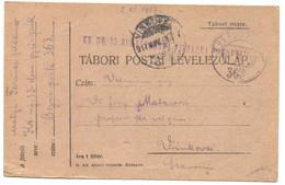 AUSTRIA HUNGARY WW1 - K.u.K. FELDPOST 363, Infant. Regiment 33. Domobranska, Traveled To Vinkovci, Year 1917. - WW1