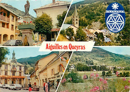 05 - Aiguilles En Queyras - Multivues - Automobiles - CPM - Etat Pli Visible - Voir Scans Recto-Verso - Otros Municipios