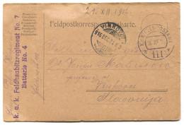 AUSTRIA HUNGARY WW1 - K.u.K. FELDPOST 111, Feldhaubitz Reg. Traveled To Vinkovci, Year 1916. - WW1